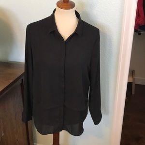 Black button up blouse